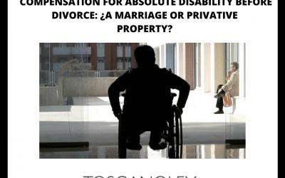 INDEMNIZACIÓN POR INCAPACIDAD ANTES DEL DIVORCIO